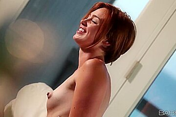 Redhead Jodi Taylor is drilled very well