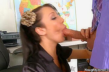Naughty office manager Amy Brooke get humped by her boss