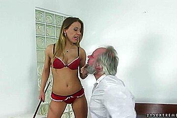 Nikky Thorne totally tramples an elderly man
