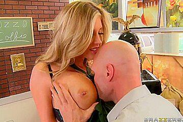 Johnny Sins enjoys with hot blonde Samantha Saint