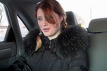 Anika in girl gets picked up and gives blowjob in the car
