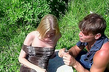 Hailey Ariana in beautiful chick getting fucked in the park