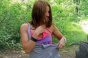 Francheska in one of the hottest girls gets fucked in the park