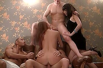 Anika & Mancy & Marika & Marya in sexy students adore making nasty group sex videos