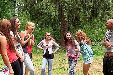 Albina & Hailey Ariana & Felony & Lindsey & Francheska & Angela in outdoors sex video with hot student fucking