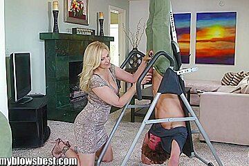 MommyBB Busty MILF Julia Ann is sucking my tied up boyf