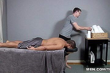 Casey Monroe & Dereck Fox in Muscle Worship Massage Scene