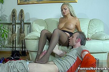 NylonFeetVideos Clip: Ophelia A and Peter B