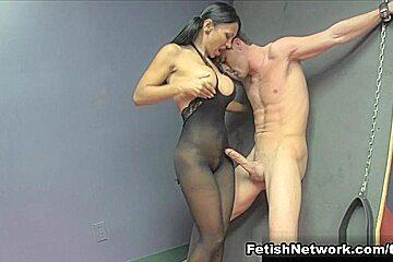 Doctor Jasmine Shy Milks her Patient with a Mean Handjob