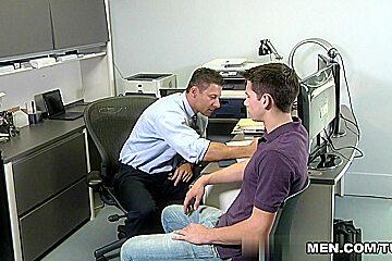 Chase Austin & Robert Van Damme in Loan Officer Video