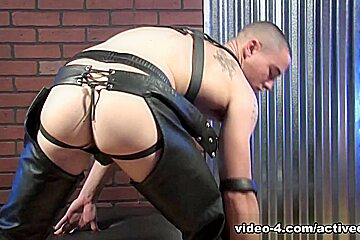 Neal in Leather Military Porn Video