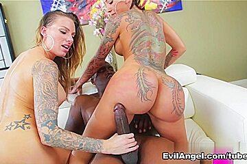 Juelz Ventura & Bella Bellz & Lexington Steele in Lex's Tattooed Vixens #02 Scene
