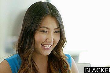 BLACKED Asian Jade Luv Screams on Massive Black Cock