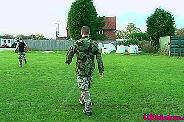 Army brit Paul Walker assfucking in shower