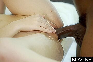 BLACKED Tali Dovas Boyfriend Lets her Try BBC