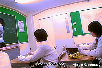 Nahomi Asakura in School nurse Nahomi Asakura makes a patient hard and cum - AviDolz