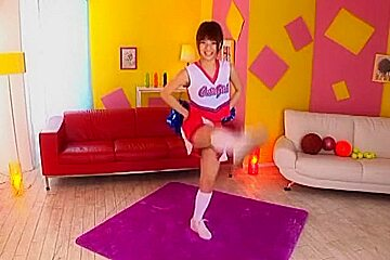 Exotic Japanese whore Yua Yoshikawa in Horny Cheerleaders, College JAV movie
