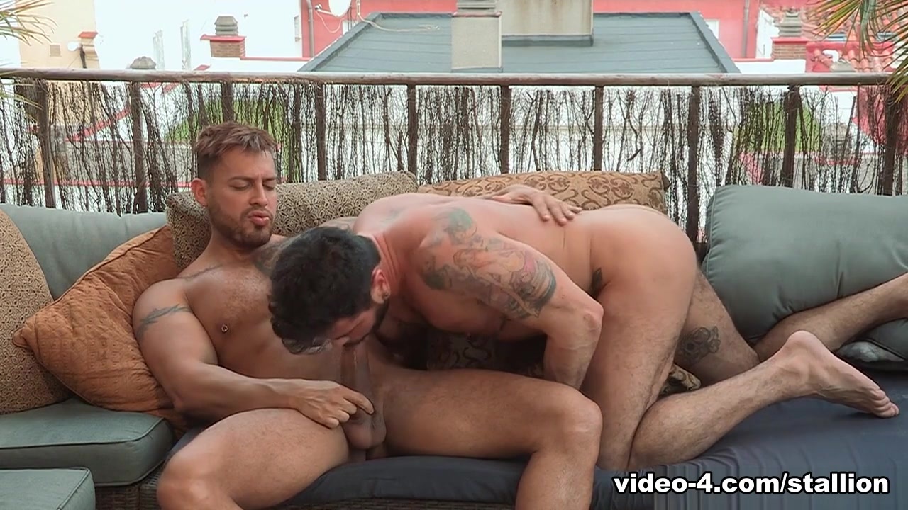 Mario Domenech & Viktor Rom in Men of Madrid, Scene #05 - RagingStallion blowjob with throat sounds