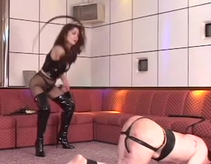 lewd serf caught by the dominatrix-bitch Girl abusing her ex for ticket