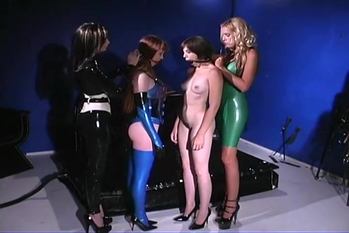 Slave Girls Immobilised In Tight Latex