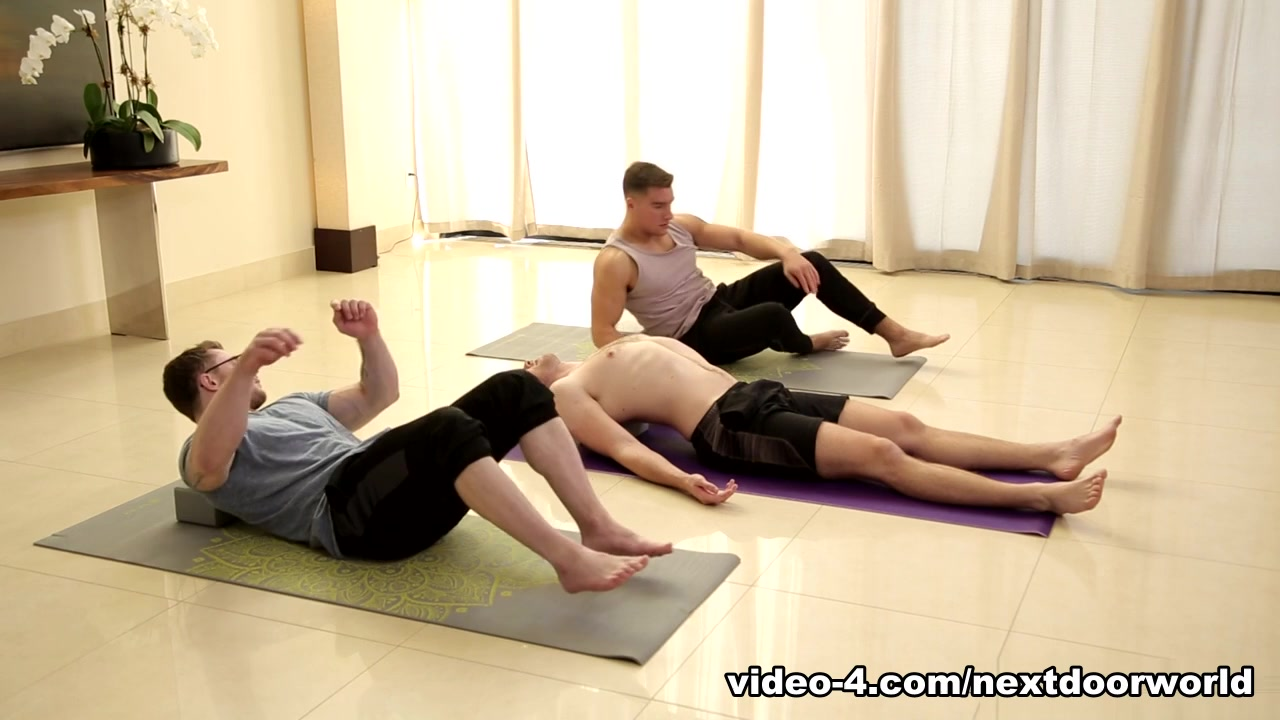 Brandon Moore & Jordan Boss in Yoga Stretched - NextDoorWorld Pornstar Blowjob Marathon in POV