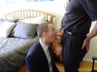 Business man suck his boss lets make sexy time hat