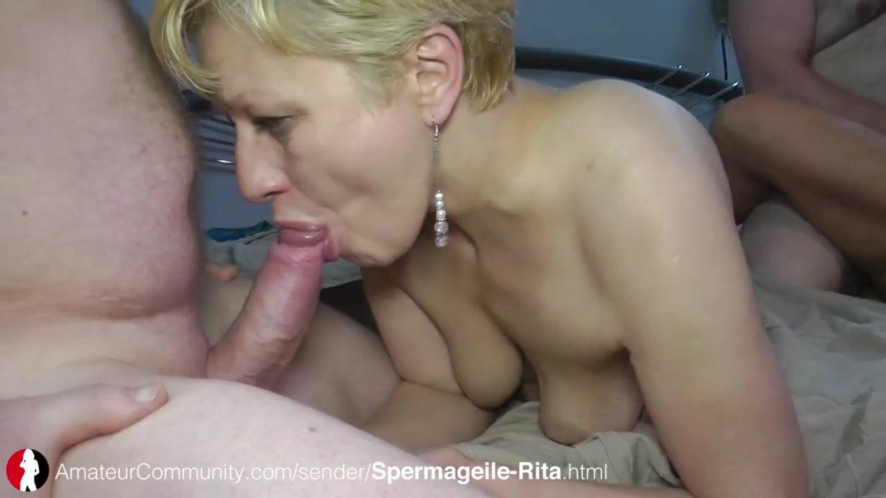 Sperma ablecken und Pisse schlucken mit Rita