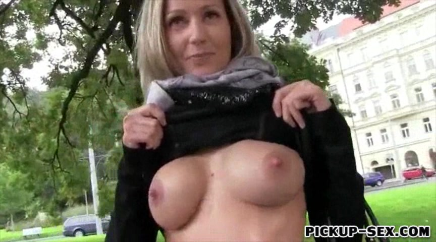 Eurobabe with big boobs public fucked for cash Fabulous homemade Strapon adult clip