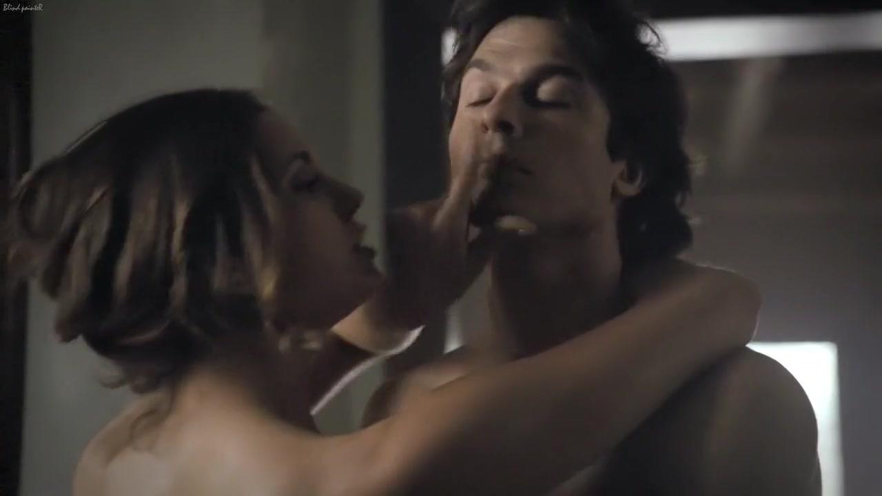 The Vampire Diaries S06E18 (2015) Nina Dobrev Nude selfie fishnet lingerie