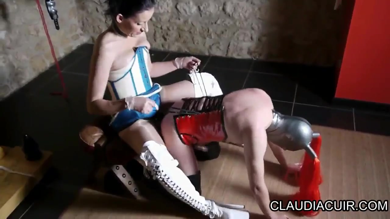 Lovely dominatrix and her kinky serf in foot fetish fun