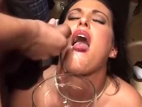 Chick sip liters of hot sperm Cougar Homemade Fuck