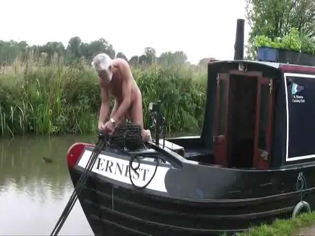Canal boat Perfect huge boobs sucks cock