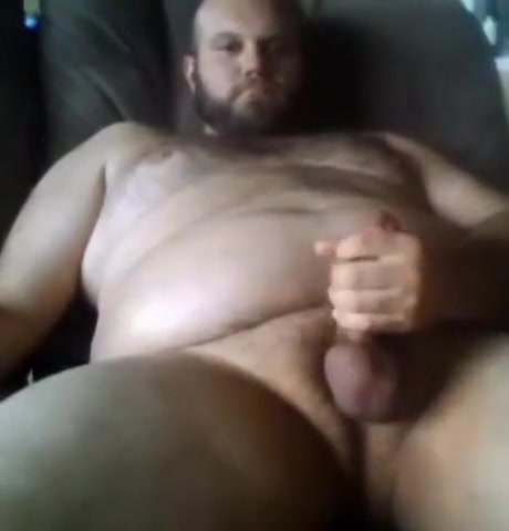 Sexy big bear jerking off using poppers Male nude model by australian photographer