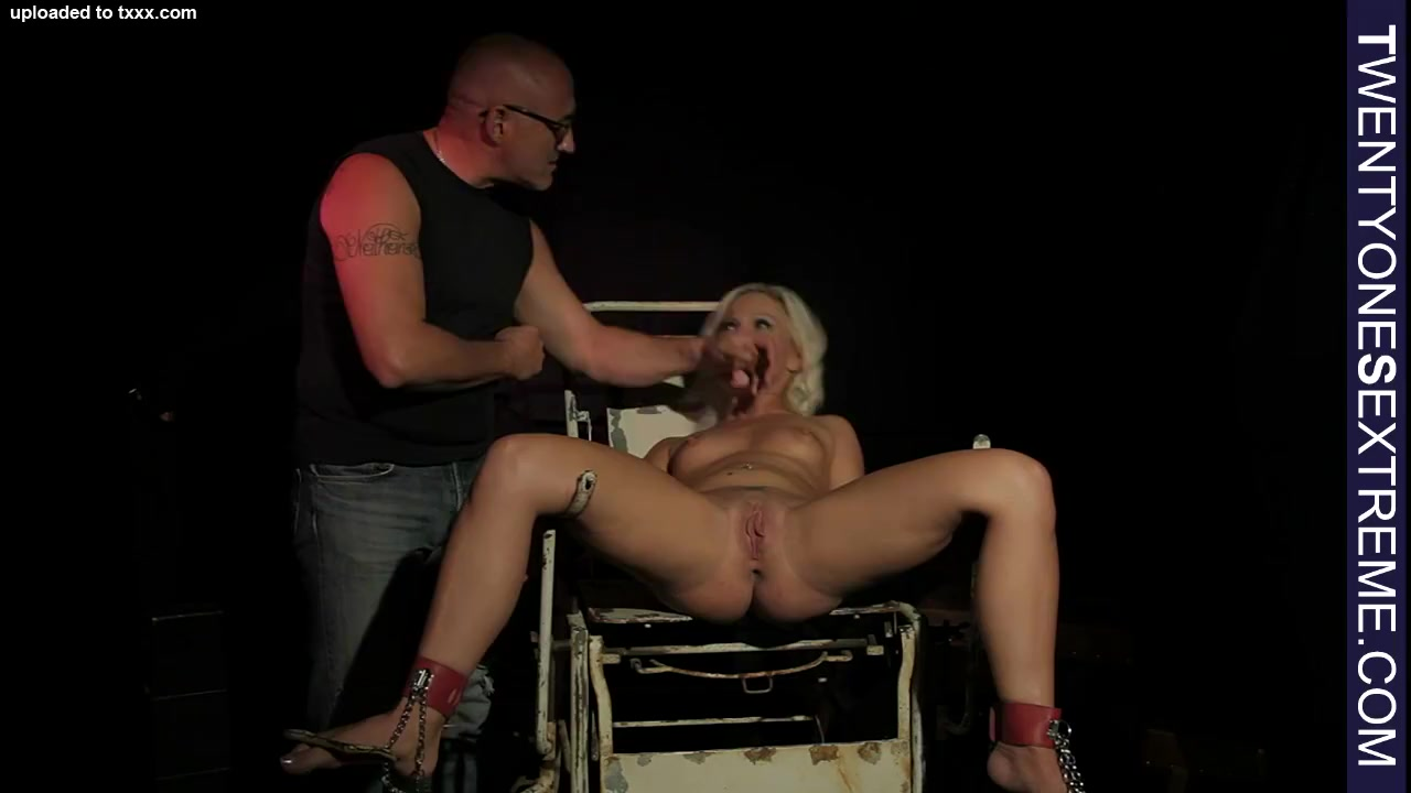 Jill tide to chair gets toyed and fucked Huge tits chubby bride banging