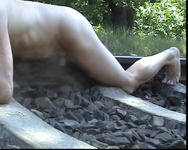Humping the rail track Young nudist beache