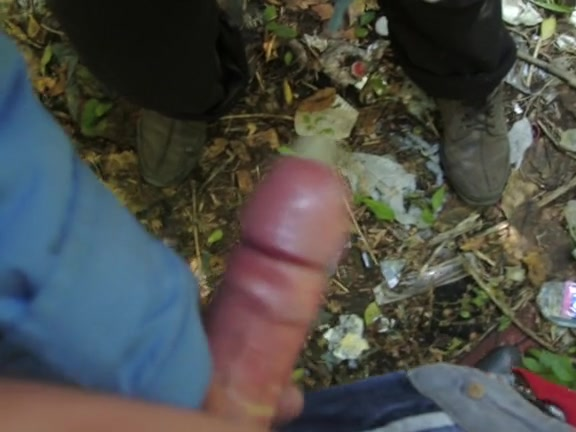 Doing a blowjob in my own garden