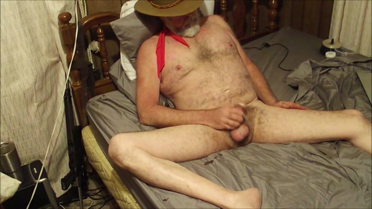 Cowboy Daddy masturbates Vip room blowjob gif