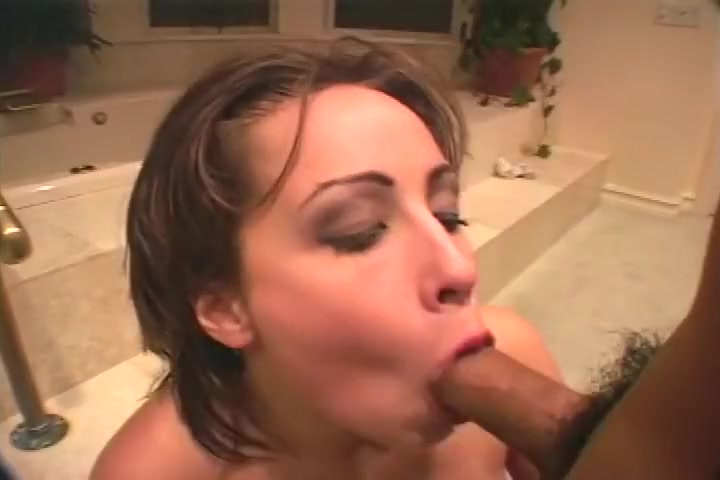 Getting Clean In The Bathroom By Sucking A Cock