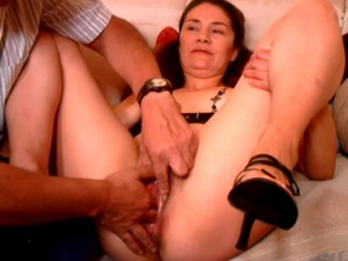 Hairy chubby mom gets her cunt fondled and fucked hard Peachtree swinging door