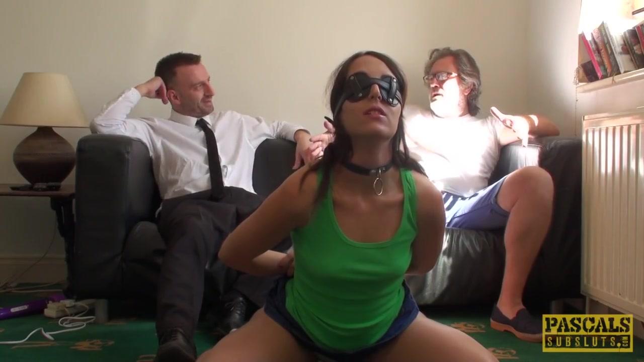 UK sub slut deepthroated while tiedup Big booty and sexy feet
