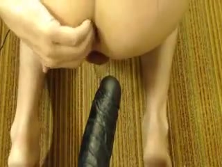 Wet Pussy and black dildo Girl fingers boy ass porn