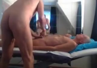 Grandpa couple on webcam 1 Bangkok women sucking black cock