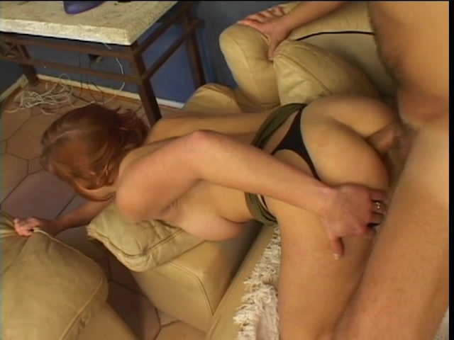 Redhead chick acquires wazoo-team-fucked