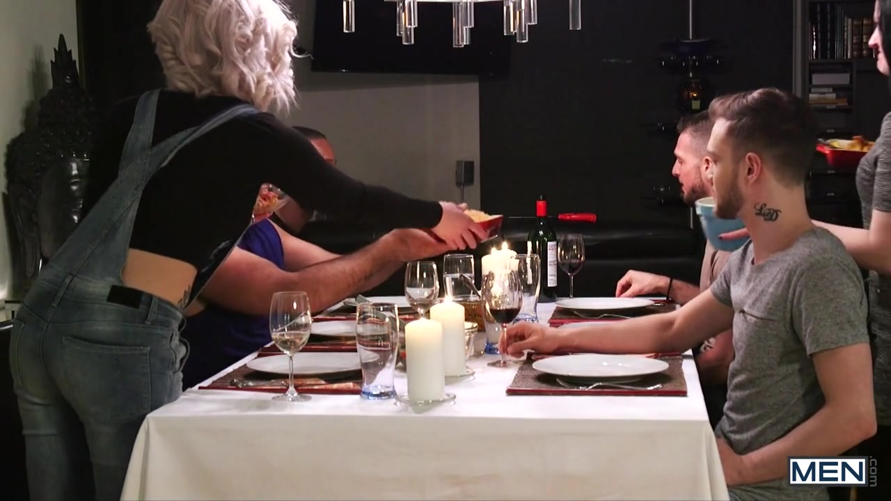 Stig Andersen & Teddy Torres in The Dinner Party Part 1 - DrillMyHole Hairy lesbians in nylon pants makinglove