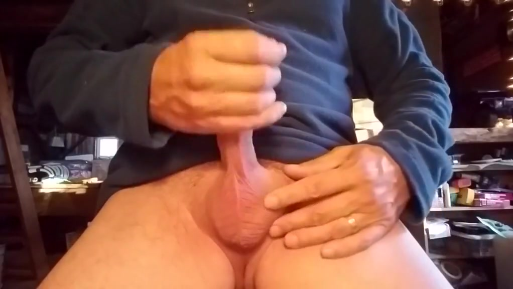 Stroking my hard cock Amateur gag video