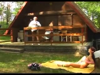 Sexual Legal Age Teenager Goes Into The Woods To Fuck A Dad