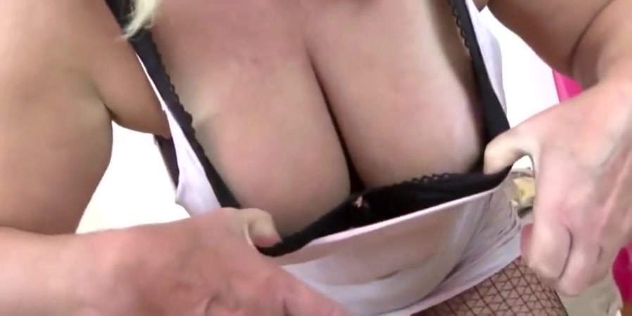 Granny with saggy tits and hungry pussy