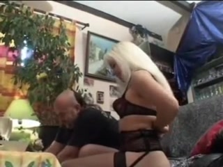 Blonde young girl fucked by old man and sprayed Big boobed girl has sex