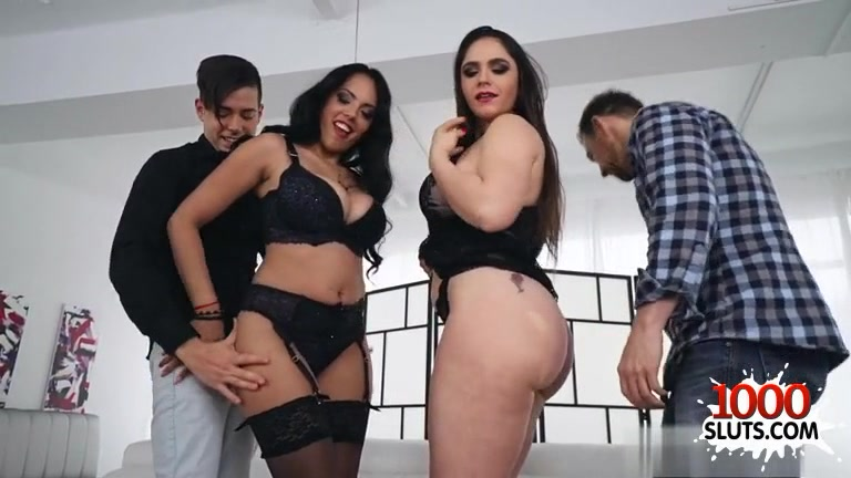 Euro pornstar foursome with cumshot Real Birthday Surprise