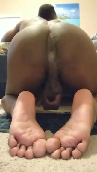 Black Stud Cumming to the Scent of His Sweaty Asshole Dominant lover bondage